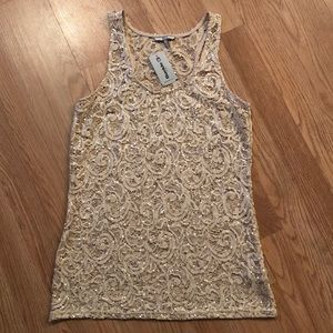 ⭐️ NWT BKE L sequin summer top ⭐️